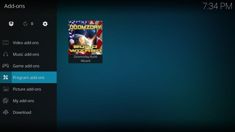how to install doomzday kodi builds