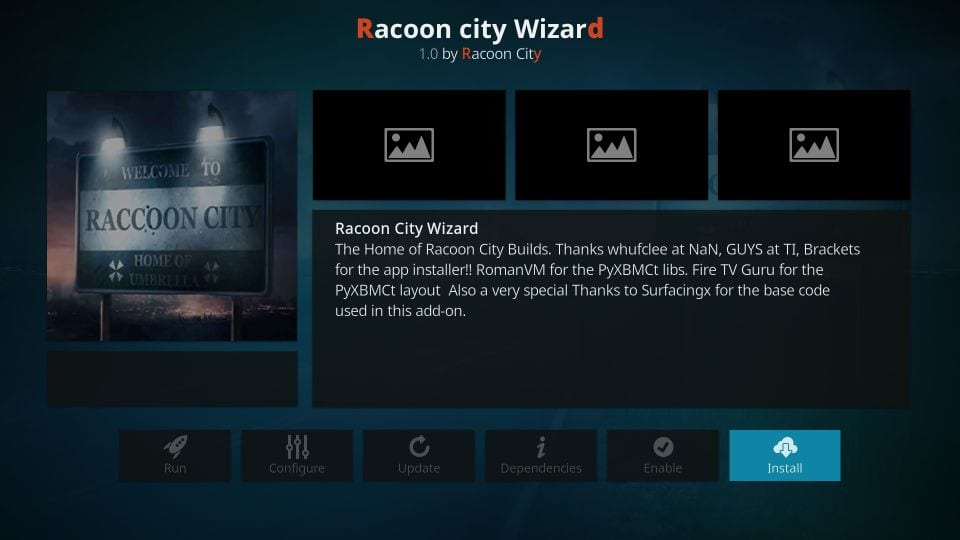 install racoon city wizard