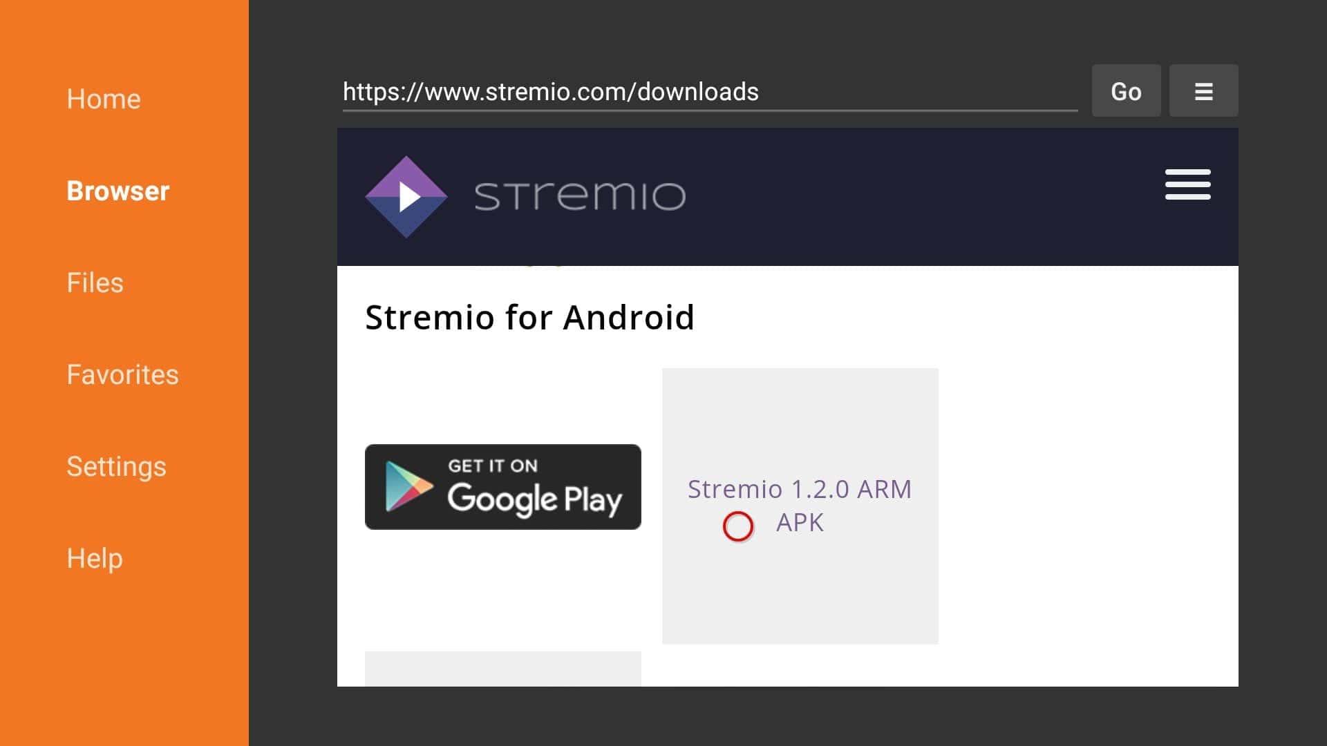 download stremio on firestick