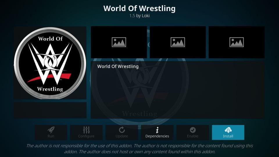how to install world of wrestling kodi addon