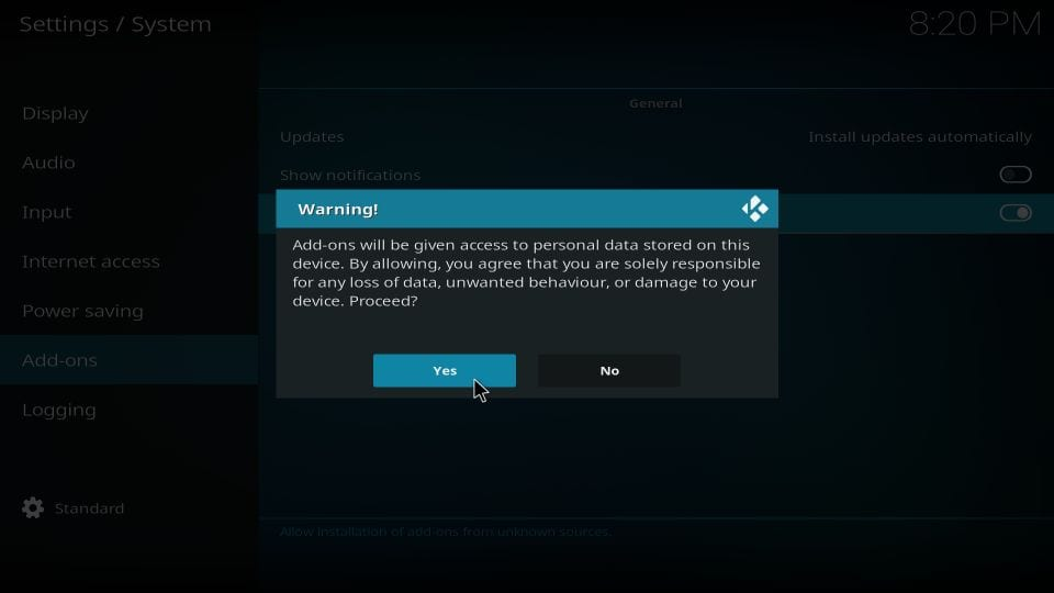 how to install limitless addon on kodi