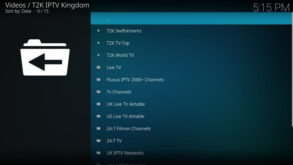 how to use kodi t2k iptv kingdom addon