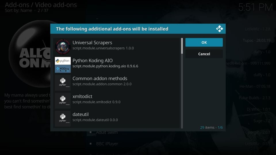 how to install all eyez on me addon on kodi