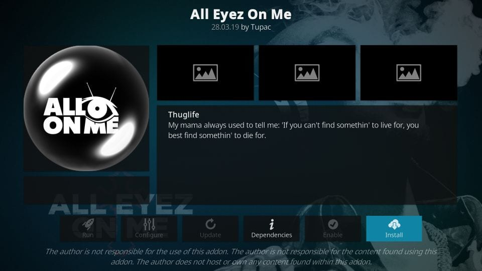 all eyez on me addon for kodi