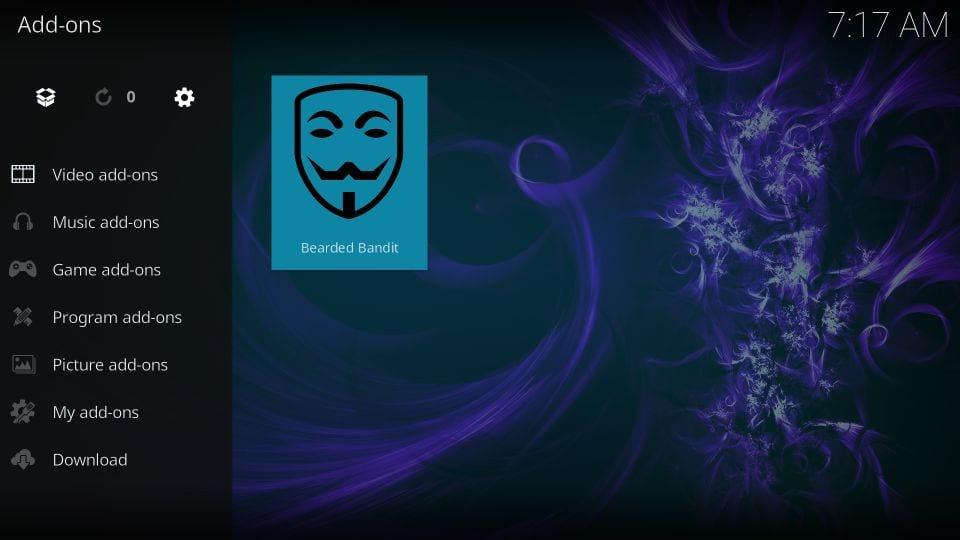 how to use bearded bandit addon on kodi