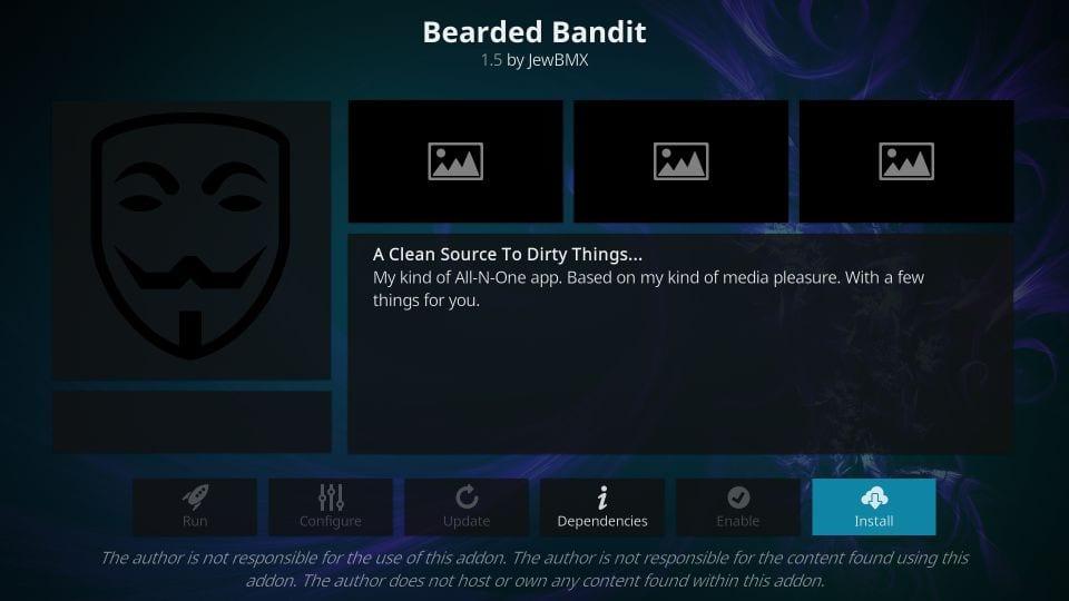 install bearded bandit kodi addon