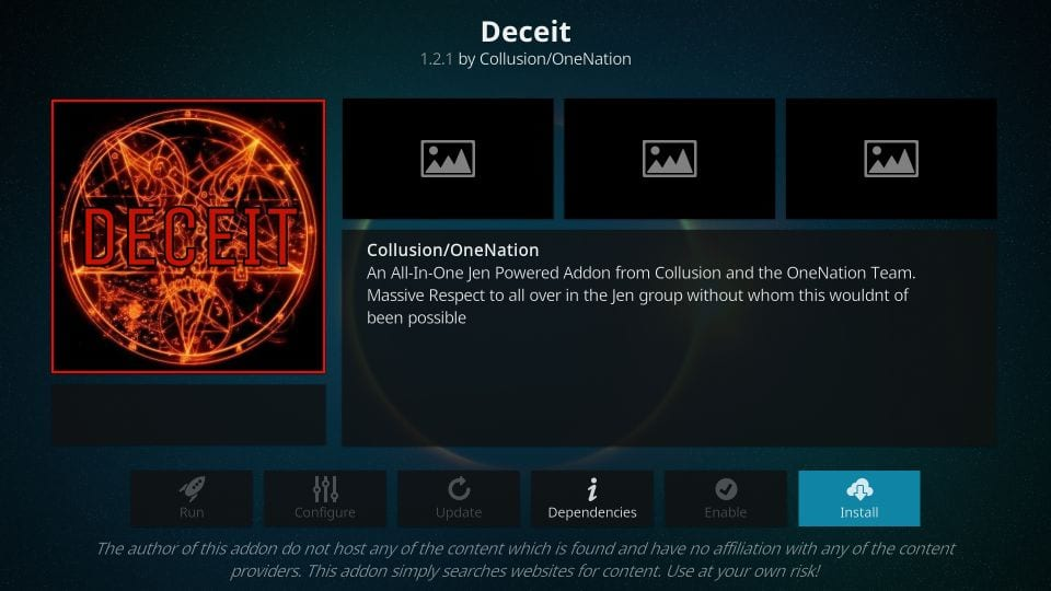 how to install deceit kodi addon