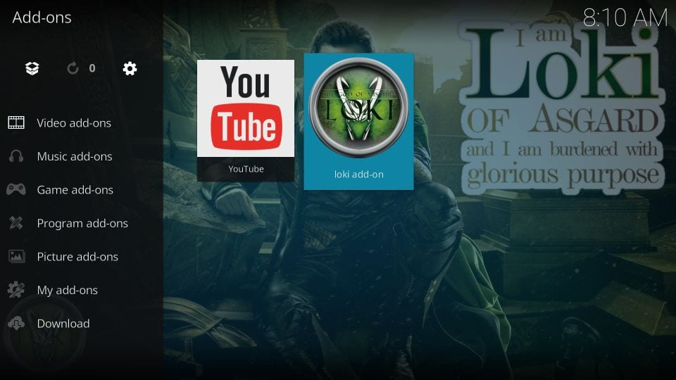 how to install loki addon on kodi