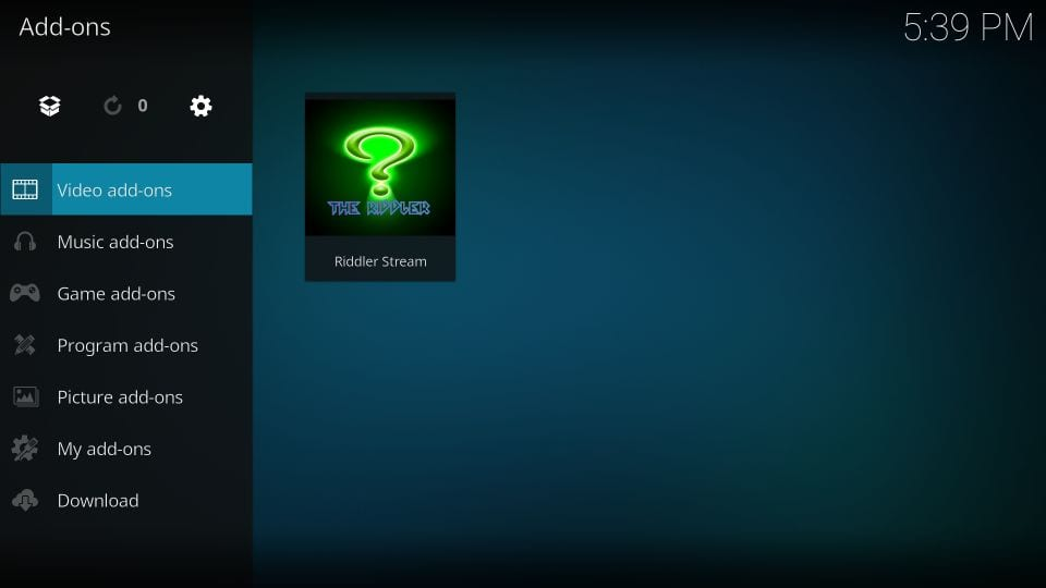 how to use riddler stream addon on kodi