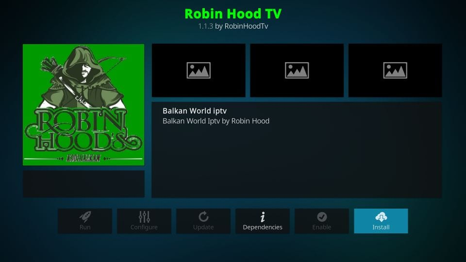 how to install robin hood tv kodi addon