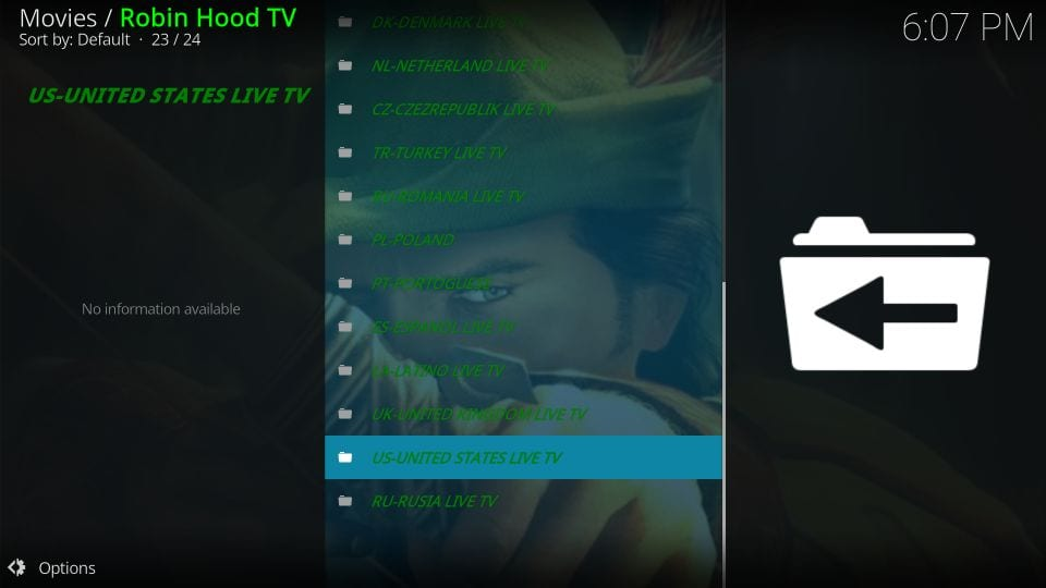 how to instal and usel robin hood tv kodi addon