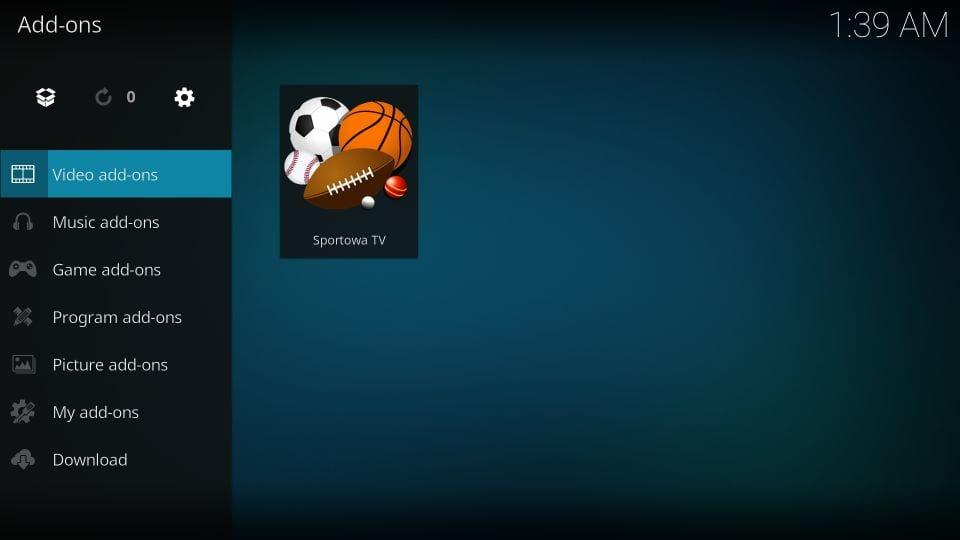 how to use sportowa tv kodi addon