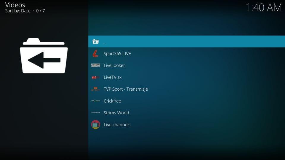 set up sportowa tv addon on kodi