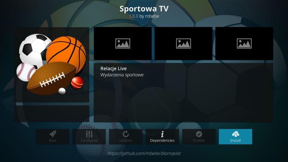 kodi sportowa tv addon