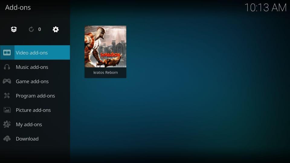 set up kratos reborn kodi addon
