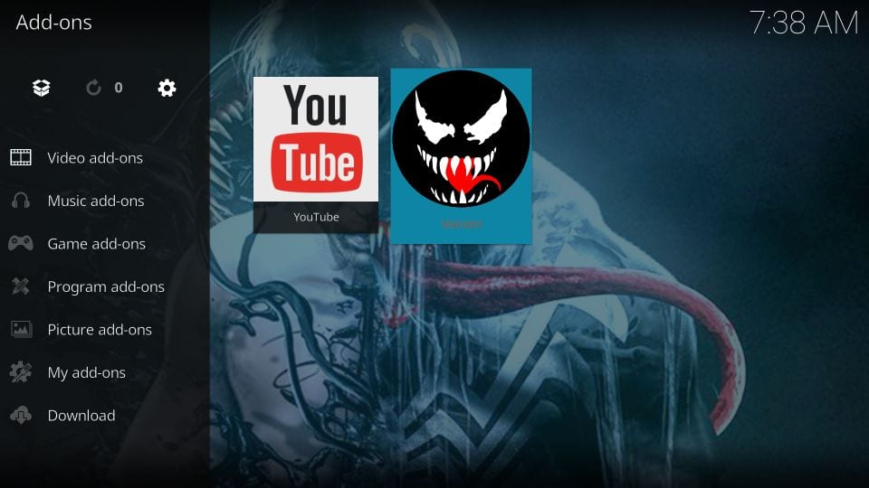 how to use venom kodi addon