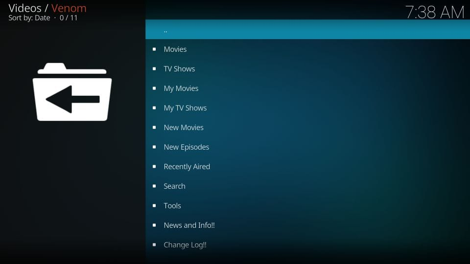 setting up venom kodi addon