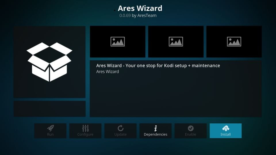 install ares kodi wizard