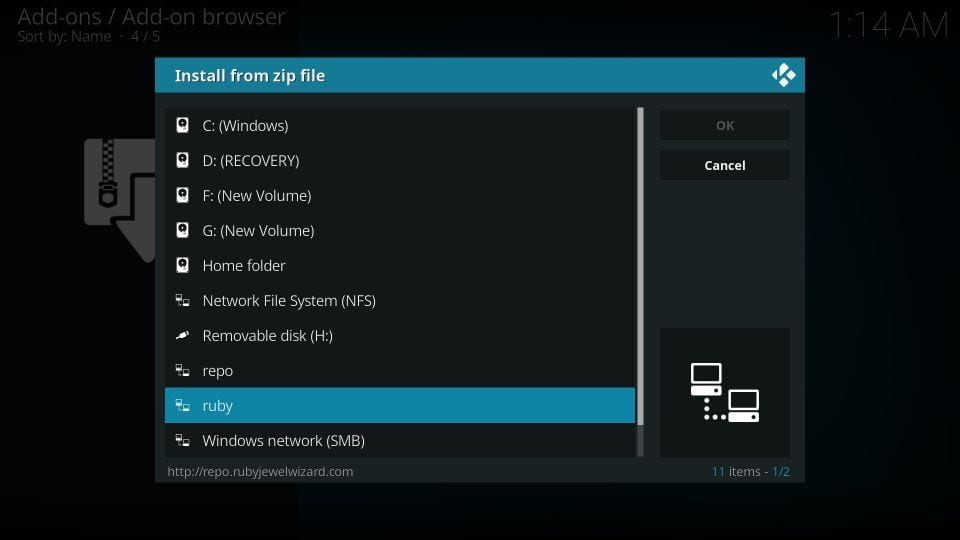 mtb's grease lightning addon for kodi