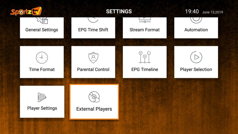 sportz tv iptv settings