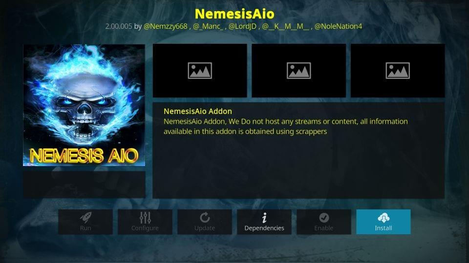 how to install nemesis aio addon on kodi