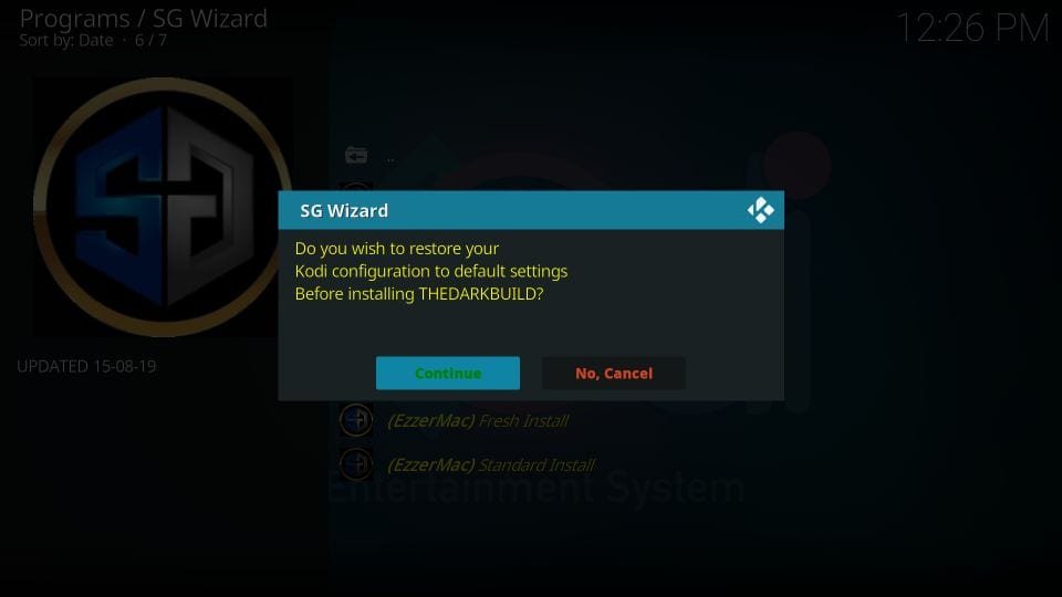 how to install sg wizard builds on kodi