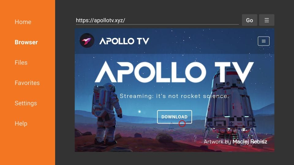 download apollo tv apk from official website