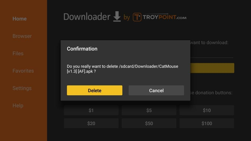 how to install catmouse app on fire stick