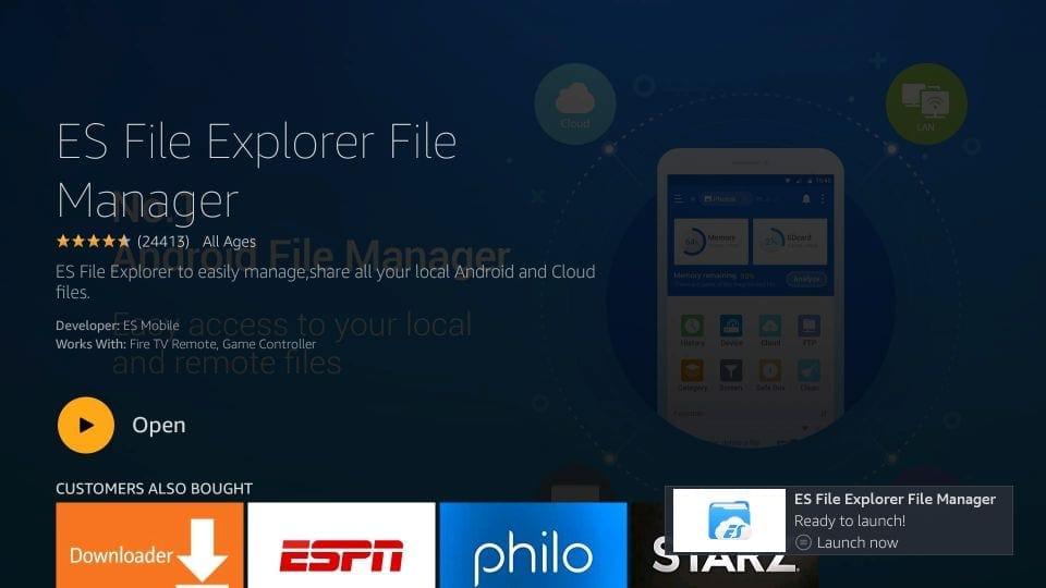 download es file explorer on firestick