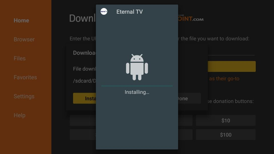 eternal tv for Firestick