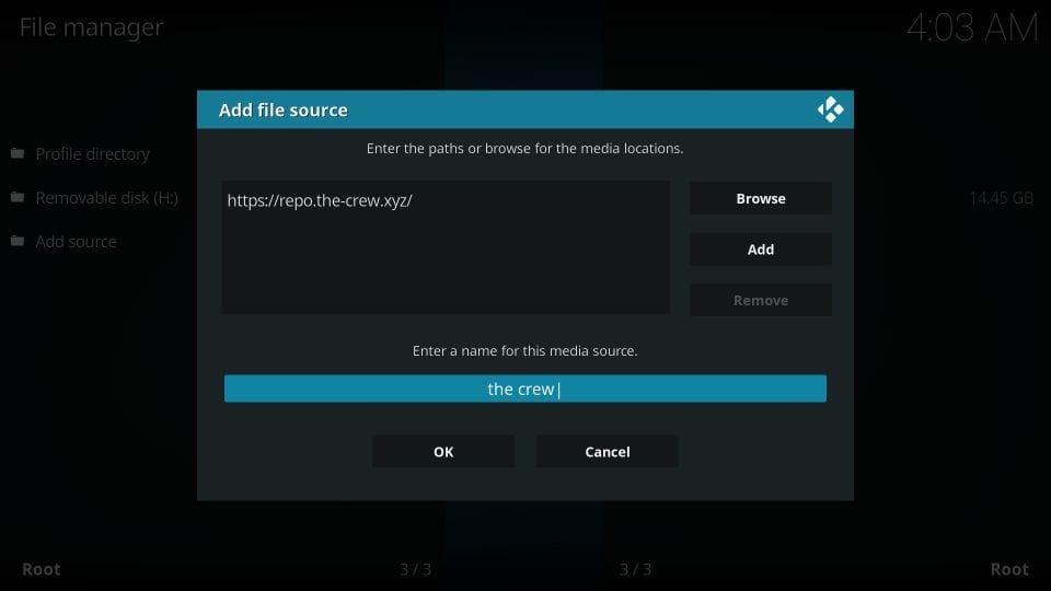 how to install the crew addon on kodi