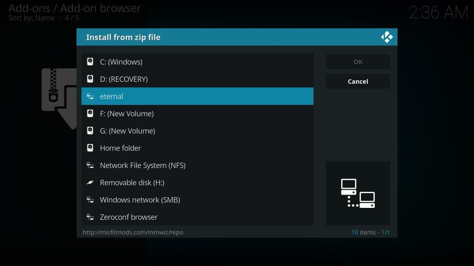 download eternal tv addon on kodi