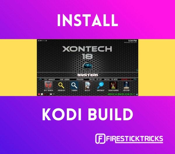 install xontech kodi build