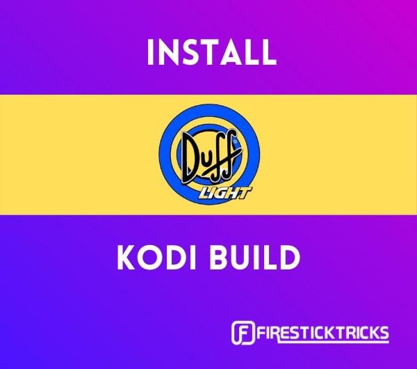 install duff light build on kodi